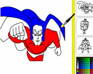 Superman online coloring Superman j�t�kok ingyen
